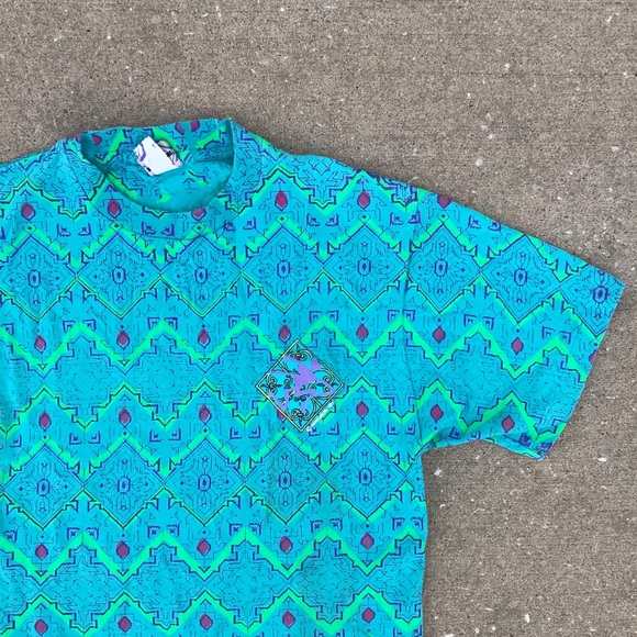 OP Other - VINTAGE 90s OCEAN PACIFIC BLUE SURF SKATE T SHIRT